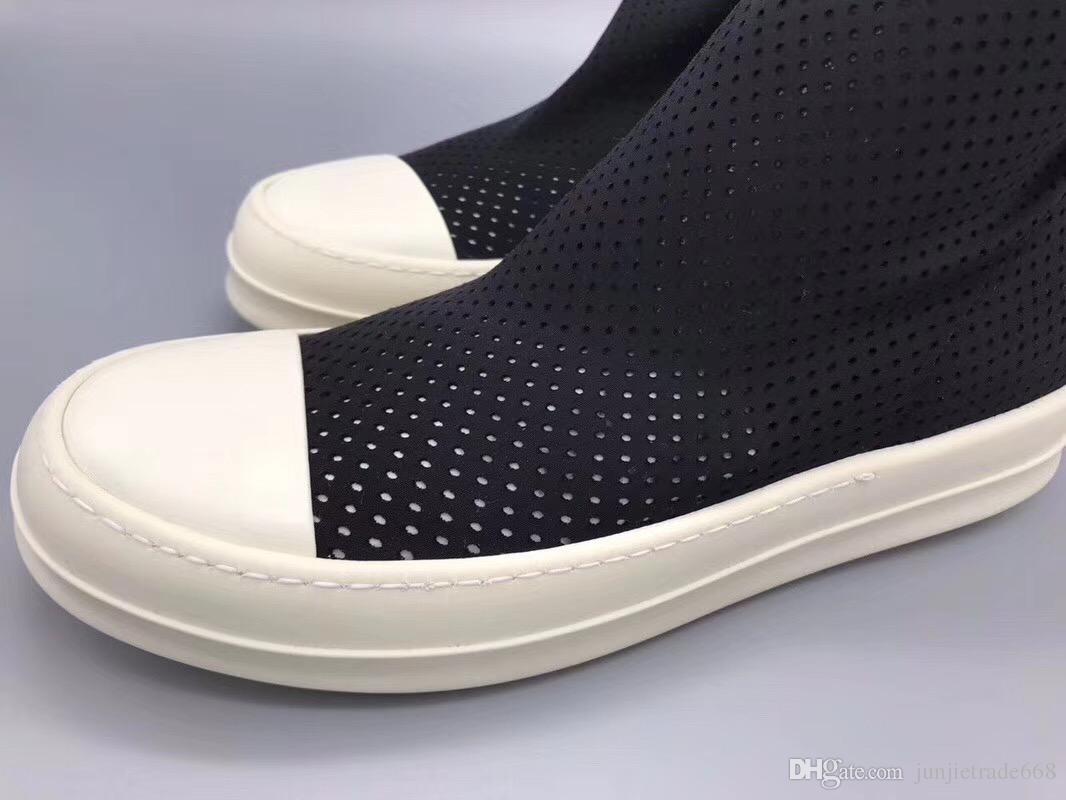 Elastik kompozit kumaş delme özelleştirilmiş yüzey hava çorap çizmeler orijinal TPU taban üst moda konfor lüks hakiki deri çizmeler