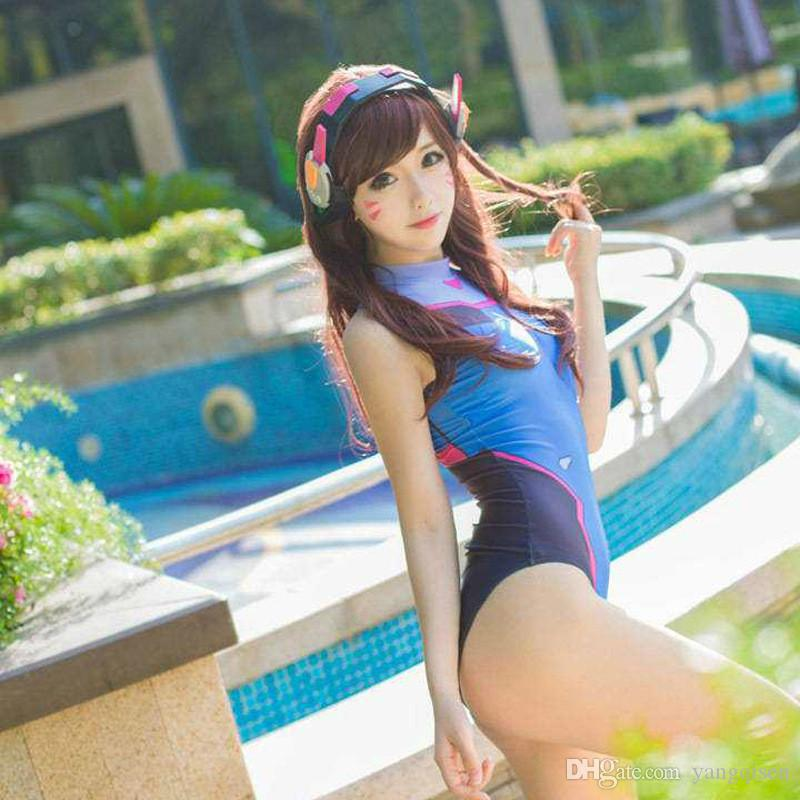 Anime Swimsuits Cosplay Costume D Va Sukumizu Spandex Swimsuit Dva Costume Anime Cosplay Su Ku Water One Piece Swimsuit Cosplay Sales Link Cosplay Costume