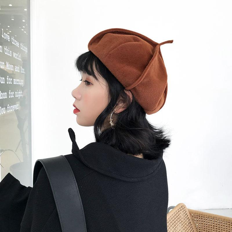 Women S French Beret Hat Spring Winter Causal Plain Knit Wool Berets For Ladies  Knitted Artist Beret Cap Hats For Woman UK 2019 From Weichengz f4af19c9c841