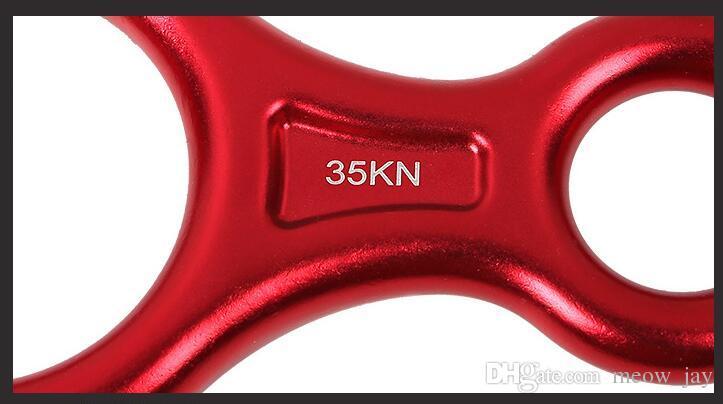35KN Belay Device Figure 8 Durable Rock Climbing Descender Aluminum Rappel Device Abseil Device Ideal for Climber