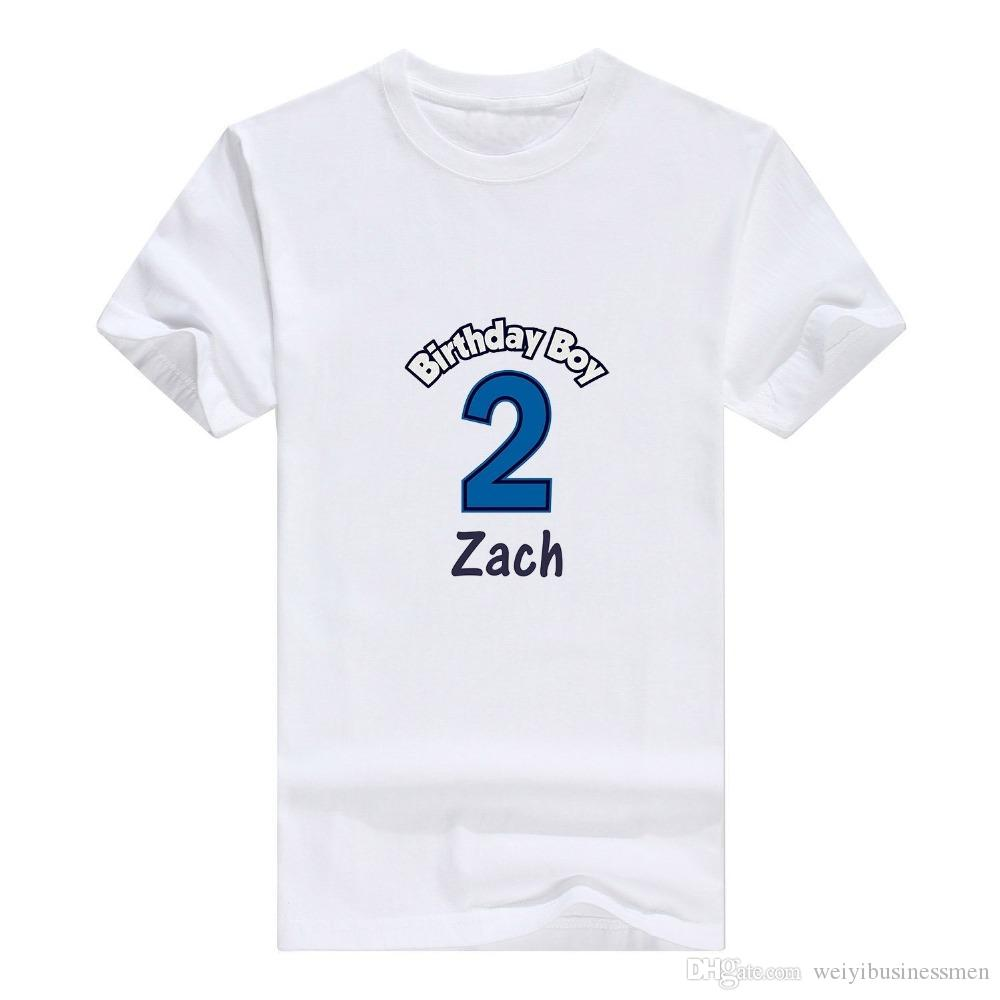 efa652fc7 New Metal Casual Shirt All Personalized 2nd Birthday Boy Custom Infant  Man's T-Shirt Short Cotton Crew Neck Shirts