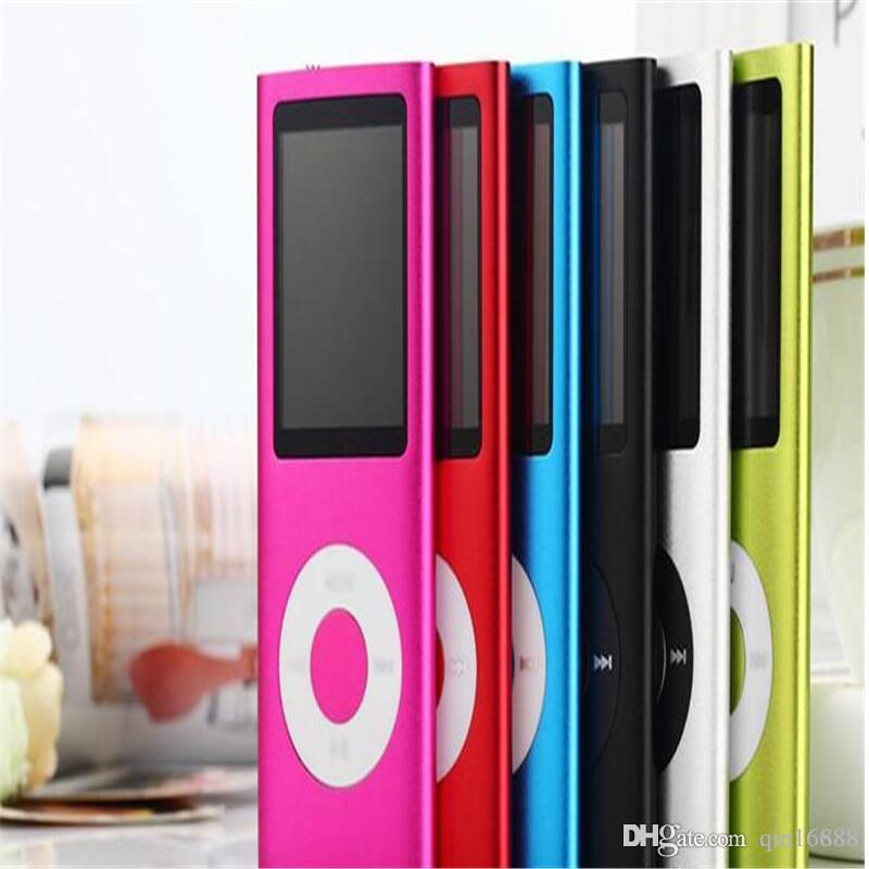 "MP3 MP4 Player Slim 4TH 1.8""LCD Video Radio FM Player Support 4GB 8GB 16GB 32GB Micro SD TF Card Mp4 4th Genera"