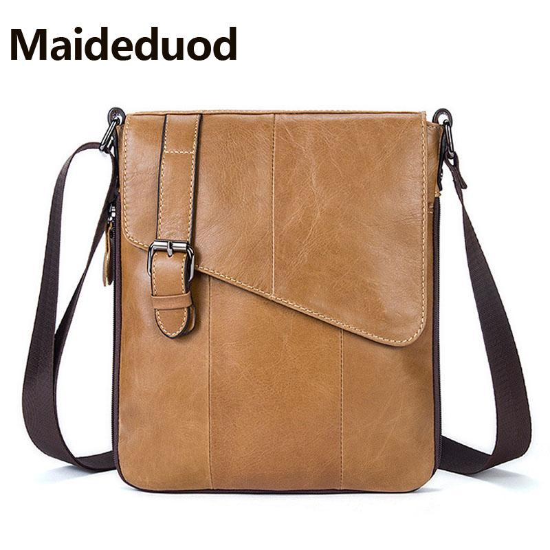 3896e60b44 High Quality Fashion Vertical Messenger Bag With 100% Genuine Leather Men Shoulder  Bag For Business Men Casual Crossbody Bags 8240 Metal Briefcase Business ...