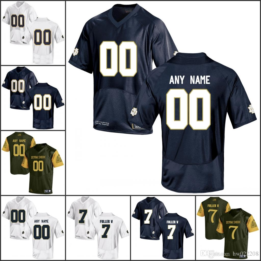 442fd1ab5 Custom NCAA Notre Dame Fighting Irish College Football Jerseys Any Name  Number 3 Joe Montana 7 Brandon Wimbush 33 Josh Adams UK 2019 From  Fanatics01