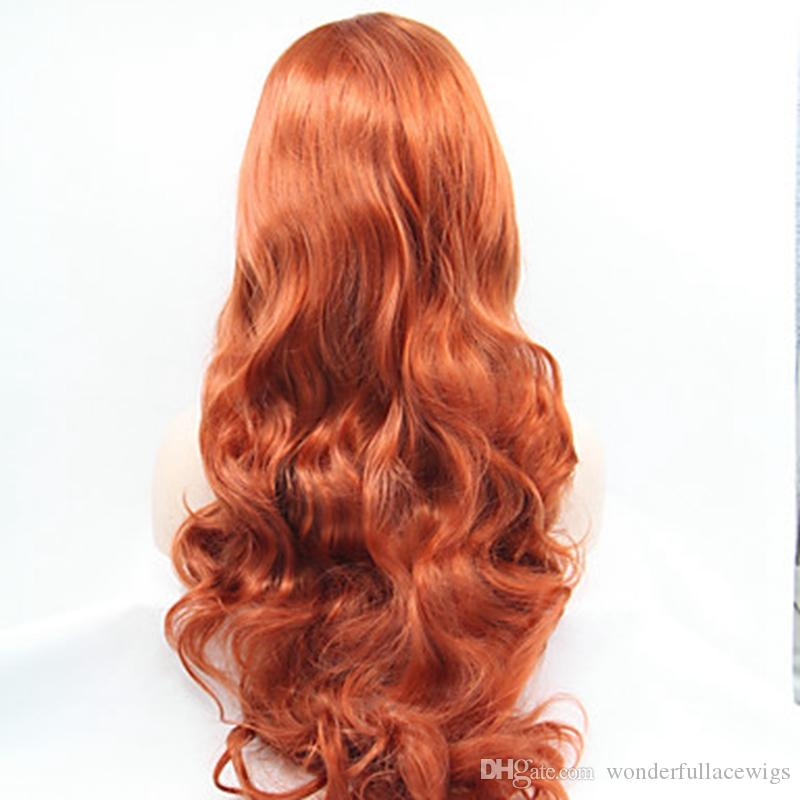Cheap Extra Long Wine Red Synthetic Lace Front Wig Heat Resistant Wavy Burgundy Red Wig Kanekalon Natural Wig
