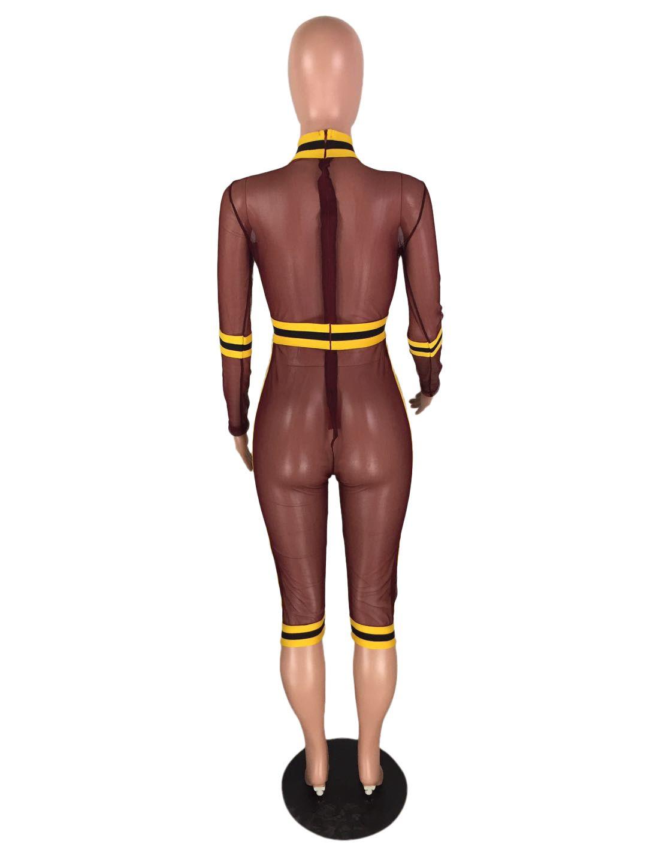 Transparent Bodysuit Plus Size See Through Rompers Women Jumpsuit Long Sleeve Skinny Overalls Mesh Bodysuit Lace Summer Playsuit
