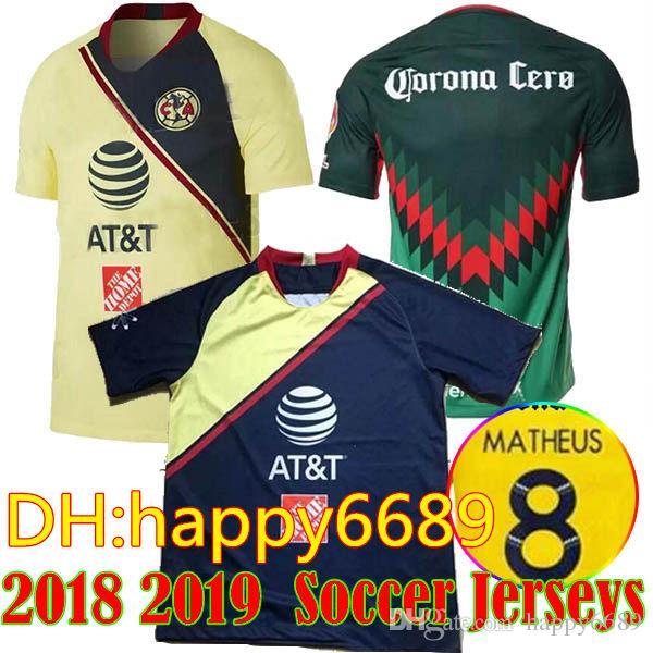 2018 19 LIGA MX Club America Soccer Jerseys 2018 I.RENATO C.DOMINGUEZ  MATHEUS Home Away Third Yellow 17 18 O.PERALTA Football Shirt UK 2019 From  Happy6689 91c0210e3