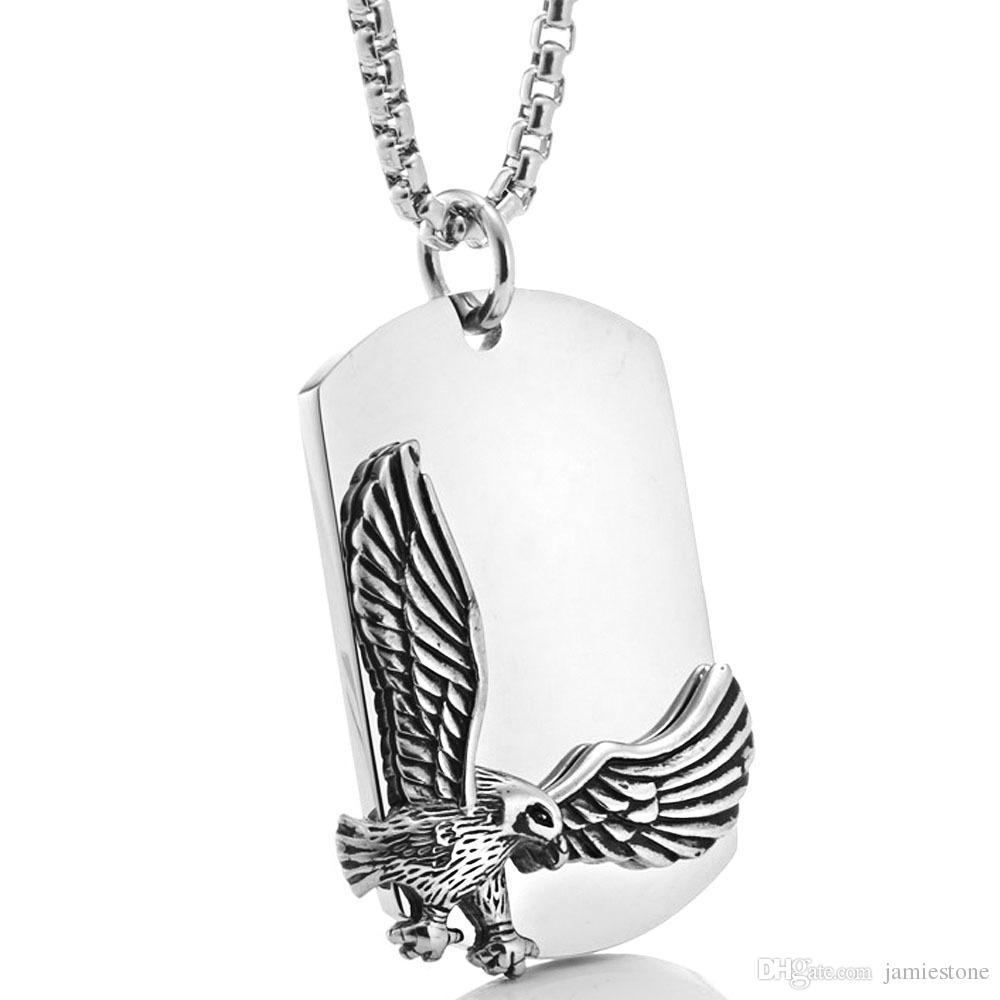 Conjunto de jóias de aço inoxidável Animal de aço inoxidável voando águia pingente