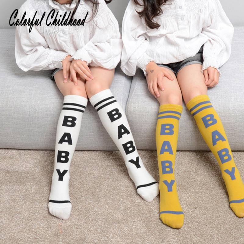 cd13aa9cb3b Kids Knee High Socks For Girls Boys Football Stripes Cotton Sports School  White Socks Skate Children Baby Long Leg Warmmer Socks Cheap Socks Kids Knee  High ...