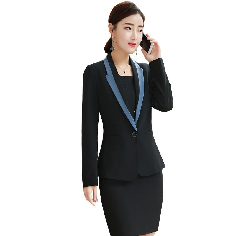 3912939a8cbd Blazer vestido de mujer coreana negocios conjuntos de ropa 2018 Otoño nueva  oficina de damas moda formal informal OL entrevestido de primavera traje
