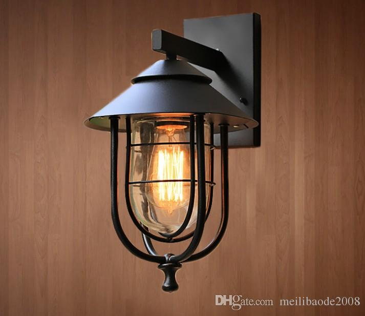 ef26f450855c 2019 Retro Wall Light Outdoor Garden Villa Fence Porch Lights Landscape Lighting  Wall Sconce Decoration Lamps E27 IP44 Home Fixtures LLFA From ...