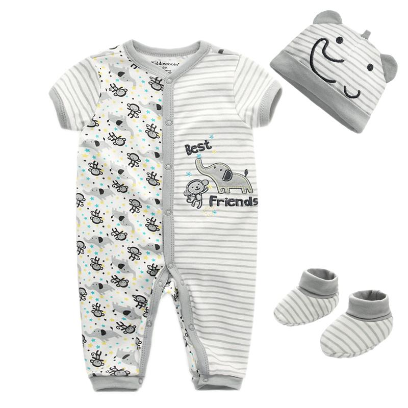 f4b73a652 2019 Newborn Girl Winter Clothes Infant Jumpsuit 100% Cotton Cartoon ...