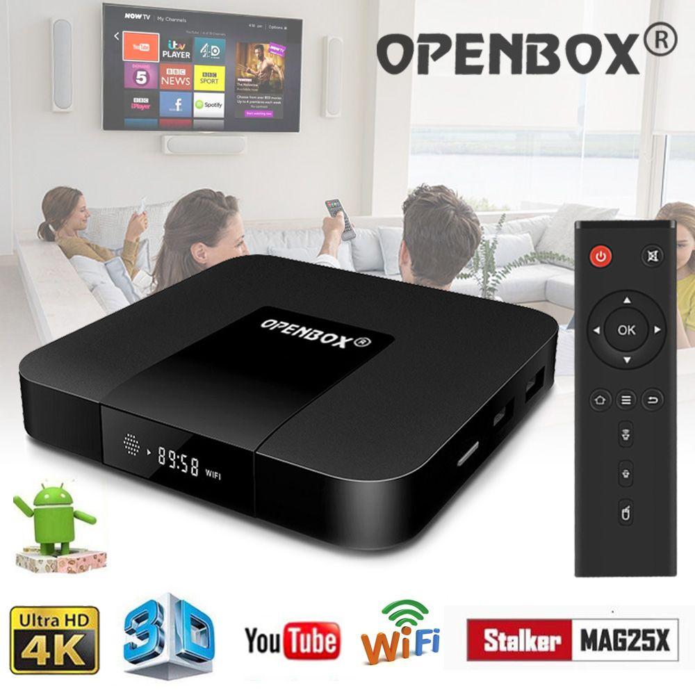Caja original OPENBOX VX IPTV Caja de 2GB 16GB Android TV 2 4GHz Wifi Igual  que MAG250 254 Stalker IPTV Wheel TV CASS PSU