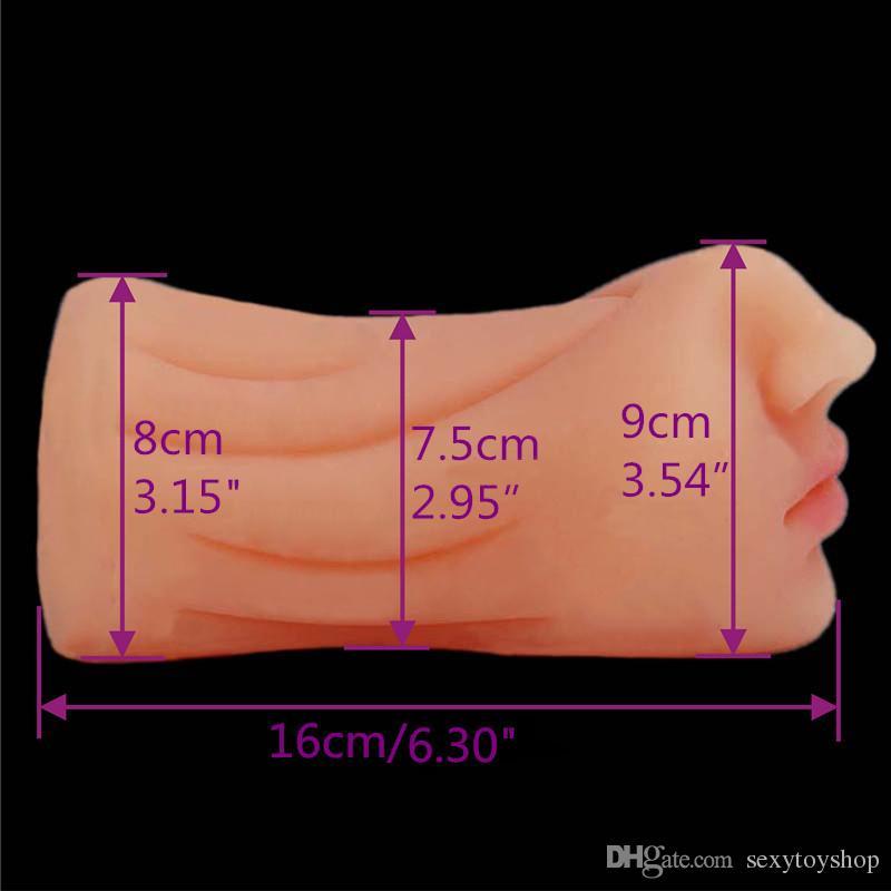 2018 Oral Sex Toys Blowjob Male Masturbator Deep Throat Tongue Realistic Mouth Toys Hot sale Japan Adult love dolls For Men Masturbation Cup