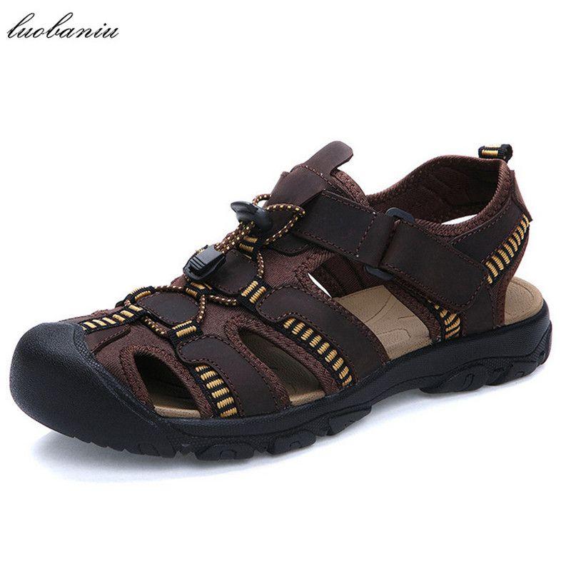 38-47 Soft Leather Sandals Men Fashion Summer Men Sandals Plus Size US 12  US 13 Sandals Fashion Sandals Men Sandals Men Fashion Online with   57.89 Pair on ... 68d59e8cd