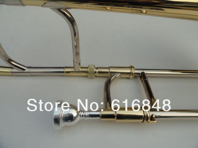 Livraison Gratuite Alto Trombone Professionnel Instrument de Musique Trombone Tune Pour Les Étudiants Trombone En Laiton De Haute Qualité Avec Étui