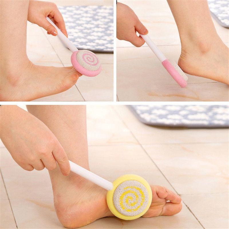 Foot Hard Skin Callus Remover Foot Clean Scruber Pumice Stone Cute Lollipop Pedicure Foot File Scraper Scrubber Pedicure tool
