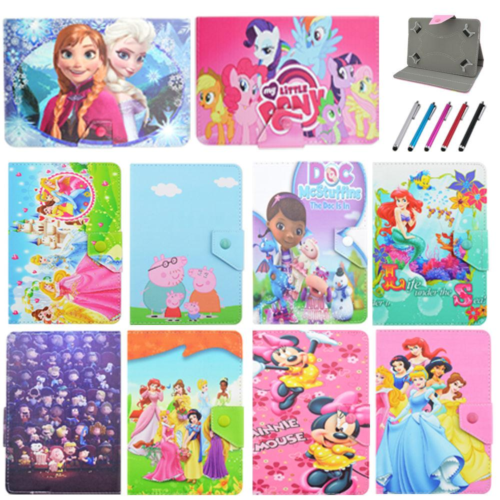 "Universal 7""inch Tab New Kid Color Pretty Printing Buckle Leather Stand Folio Covers Case for Universal 10~10.1""inch tablet PC"