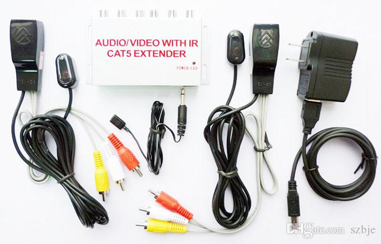 NB201 VIDEO/AUDIO Over cat5/cat6 Extender With IR Repeater,AUDIO/VIDEO IR  Extender Repeater Kit