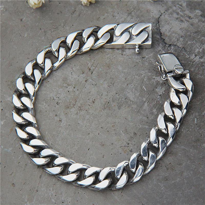 41579783ee97a8 2019 Starfield S925 Sterling Silver Jewelry Retro Thai Silver Punk Style Bracelet  Domineering Personality Men From Baozii, $103.26 | DHgate.Com