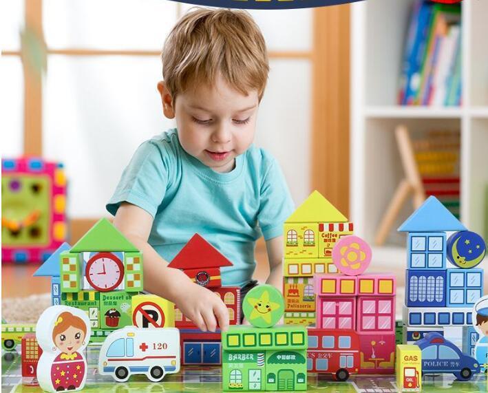Finger Rock City Mini Street Series With figures Building Block Toys Model Store Shop Apple Store McDonald`s DIY Bricks Gift