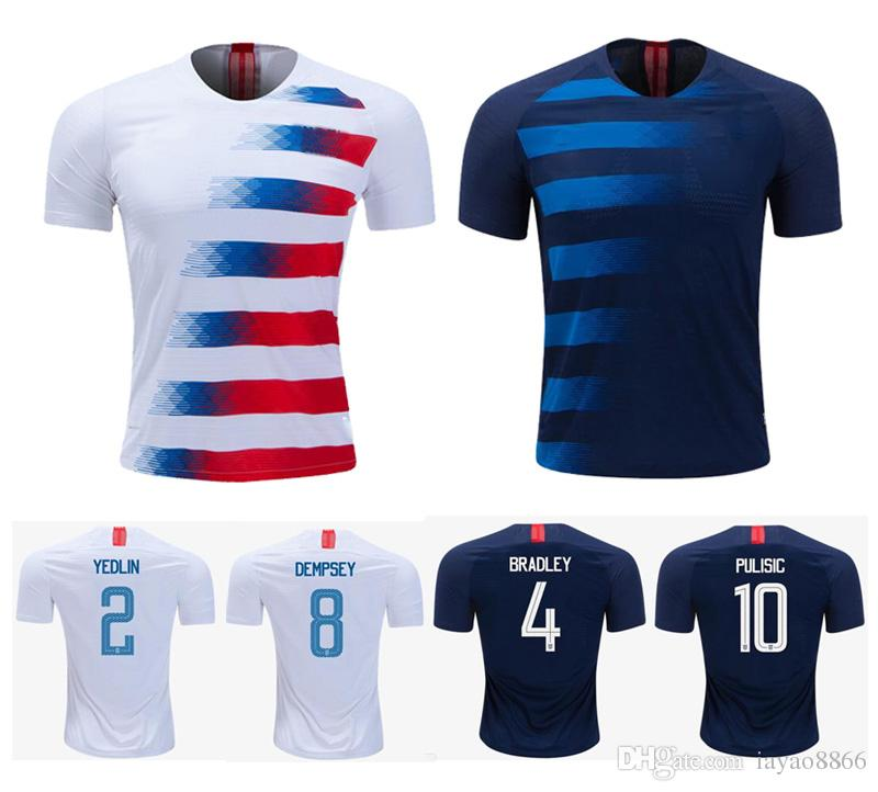 cd3d52e70 2019 US National Team 2018 Season Home And Away Jersey DEMPSEY US DONOVAN  BRADLEY PULISIC ALTIDORE YEDLIN MORGAN WOOD Soccer Jersey From Iayao8866,  ...