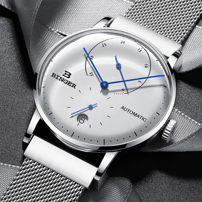 Compre Suiza BINGER Hombres Reloj Marca De Lujo Automático Mecánico Relojes  Para Hombre Acero Inoxidable Zafiro Hombre Japón Movimiento Reloj A  135.41  Del ... 31b4ee11c0d5