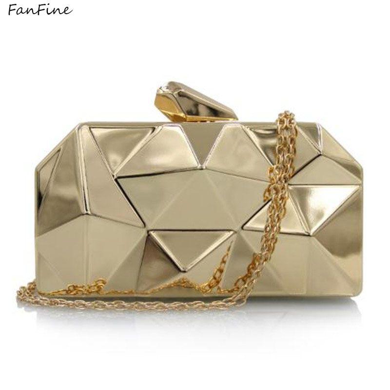 a010c249b9 FanFine Women Evening Bag Gold Clutches Bags Party Silver Wedding Party  Purple Clutch Purses female designer Chain bag fashion