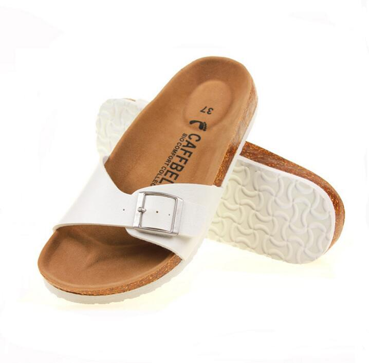6182bb45df9f 2018 Summer Women Sandals Cork Slippers Casual Unisex Outdoor Shoes Flats Buckle  Fashion Beach Shoes Slides Plus Size 35 43 Sandles Wedge Booties From Bking  ...