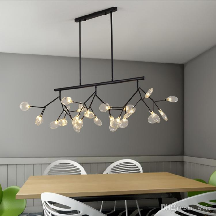 modern creative firefly branch led chandelier for living room dining room lustre clear glass free shipping rh dhgate com