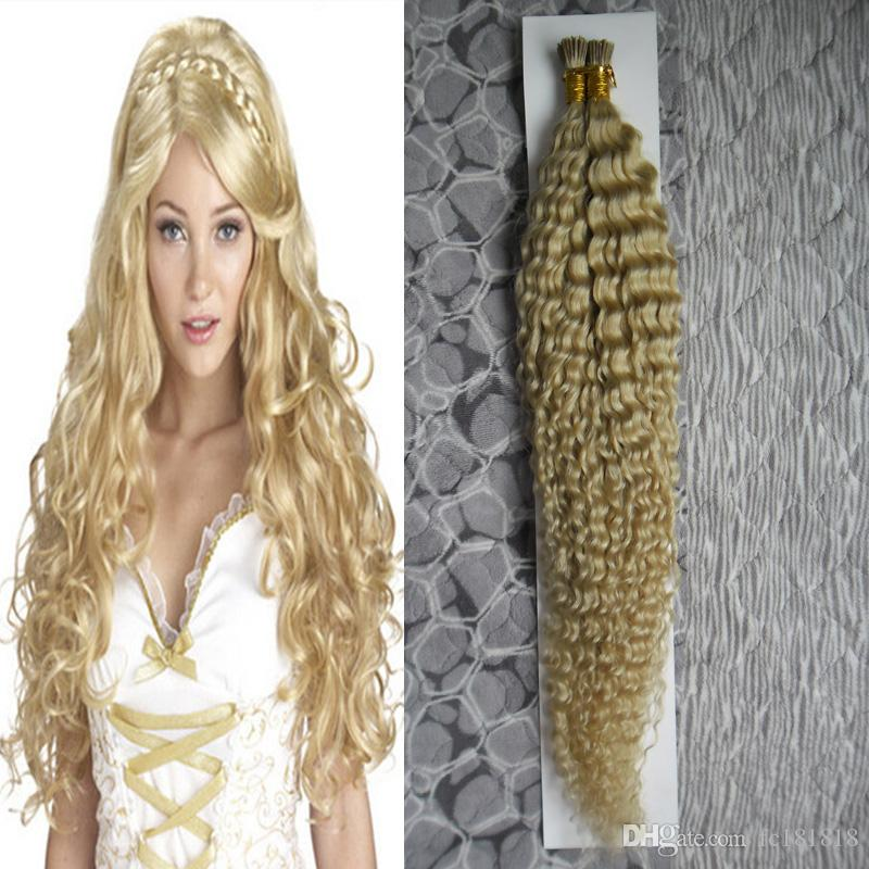 Pre Bonded Remy I Tip Keratin Human Hair Extensions 10 26 100g Silky