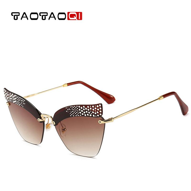 18b64781efa TAOTAOQI Brand Cat Eye Sunglasses Women Designer Fashion Rhinestone Sun  Glasses Female Eyebrow Vintage Eyewear UV400 Oculos Bifocal Sunglasses Retro  ...