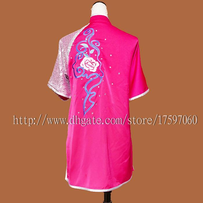 Cinese tradizionale Wushu uniforme abiti Kungfu vestito di arti marziali taolu vestito kimono di routine ricamato uomo donna ragazzo ragazza bambini