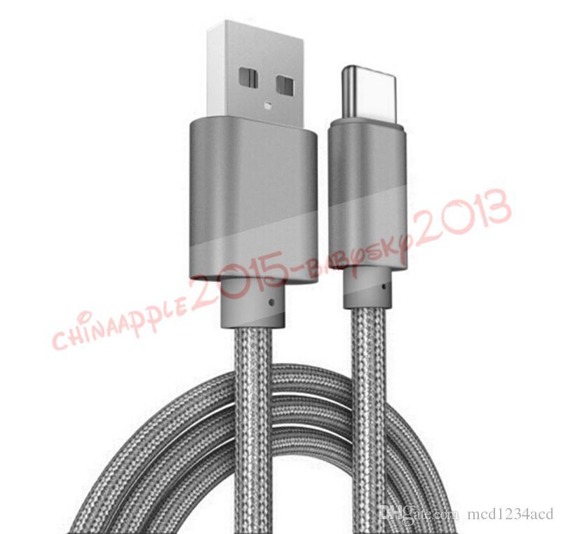 Highgeschwindigkeit 1m 2m 3M Typ C-Micro-USB-Kabel geflochtene Telefonkabel für Samsung LG A