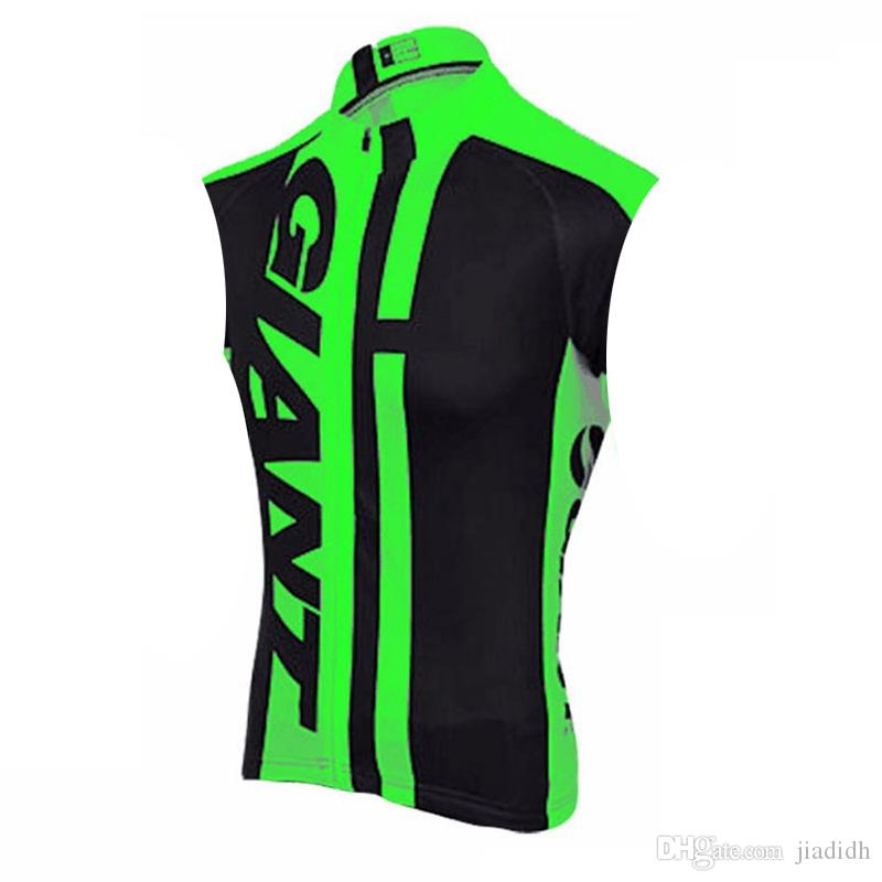 GIANT team Cycling Sleeveless jersey vest summer Men Pro bicycle clothing Wear Comfortable Breathablean Quick dry shirt 61512