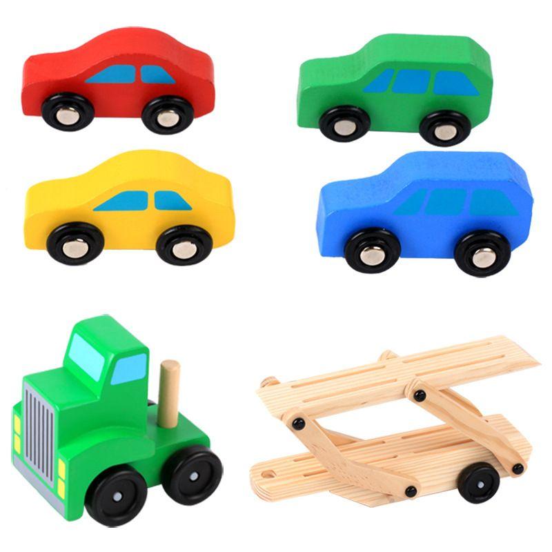 De Vehículo Modelos Camiones Automóviles Clásicos Madera Juguetes Para Educativo Aprendizaje Juego NiñosTransportador ONv8mn0w