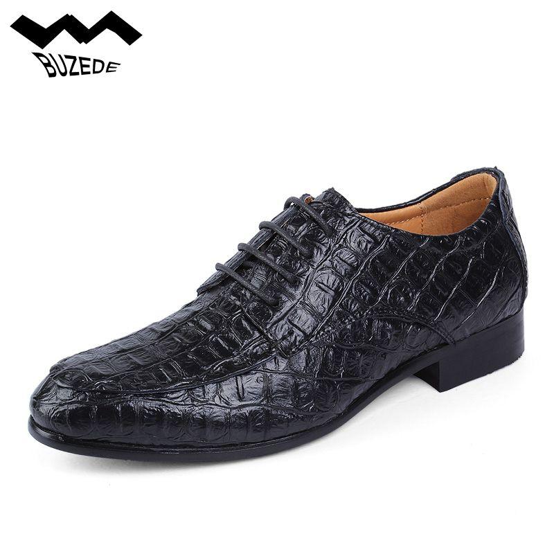 chaussures de sport 5ab2c 1dd01 Buzede Nouvelle Arrivée Hommes Casual Chaussures Crocodile Motif Hommes De  Luxe Robe Chaussures À La Main Hommes D affaires Formelle Big 38-50