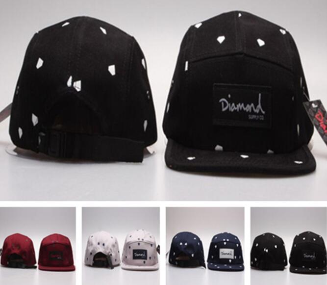 b336fb533f68b0 Wholesale 20 Style Five 5 Panel Diamond Snapback Caps Hip Hop Cap Flat Hat  Hats For Men Casquette Gorras Planas Bone Aba Reta Toca Lids Cap From ...