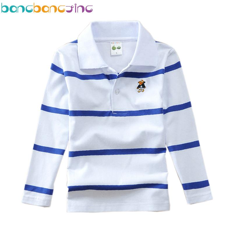 Boys 2019 Brand Shirts Top Stripe Children Quality Long Sleeve Polo 3TFKuJcl1