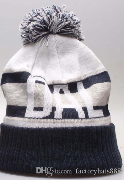 2019 Autumn Winter Hat Sports Hats Custom Knitted Cap DAL Team Logo ... 52ea60a89