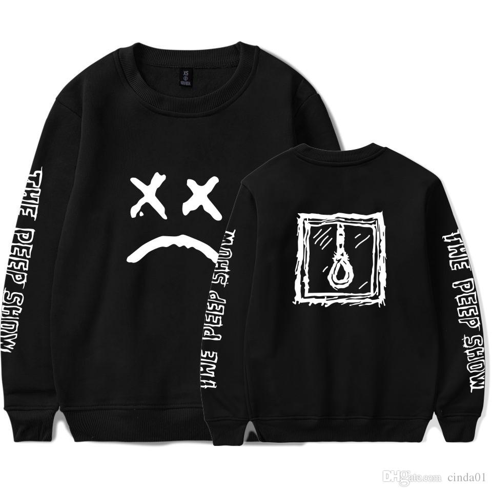 634f4d8e73b8 2019 Lil Peep Sad Face Printed Pullover Mens Womens Casual ...