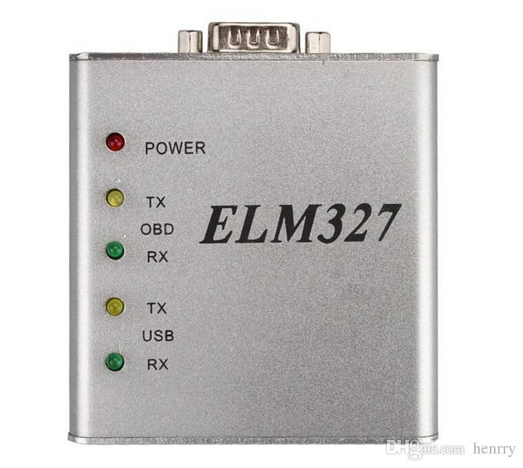 ELM327 USB Aluminium RS232 COM Metall OBD2 ULME 327 CAN-BUS Scanner OBD2 Code V1.4 Echte Version Elm327 USB PIC18F25K80 + CP2102