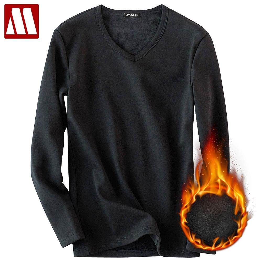 2018 Winter Fitness Undershirt Men Long Sleeve T shirt Male Thermal Muscle Bodybuilding Workout Tights Exercise Cotton Tops Tees