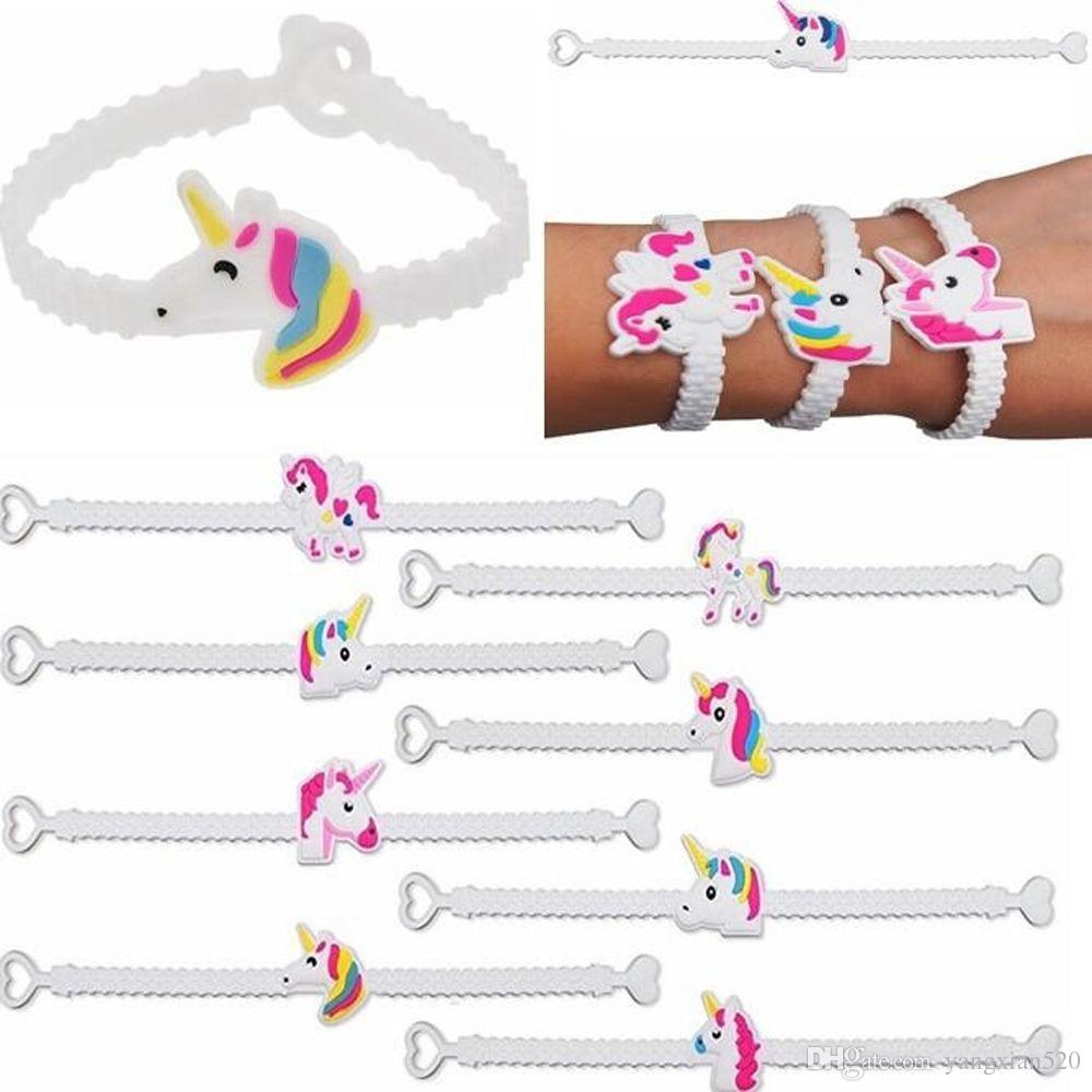 hot sale Unicorn Bracelets Wristbands for Kids Birthday Party Supplies Favors, Toys and School Classroom Rewards wholesale