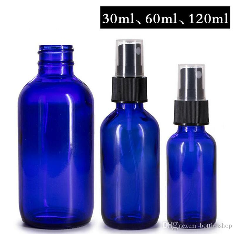 769029a8fec2 Hot Sale 30ml 60ml 120ml Round Blue Boston Perfume Spray Bottles Refillable  Empty Cosmetic Containers With Atomizer For Traveler