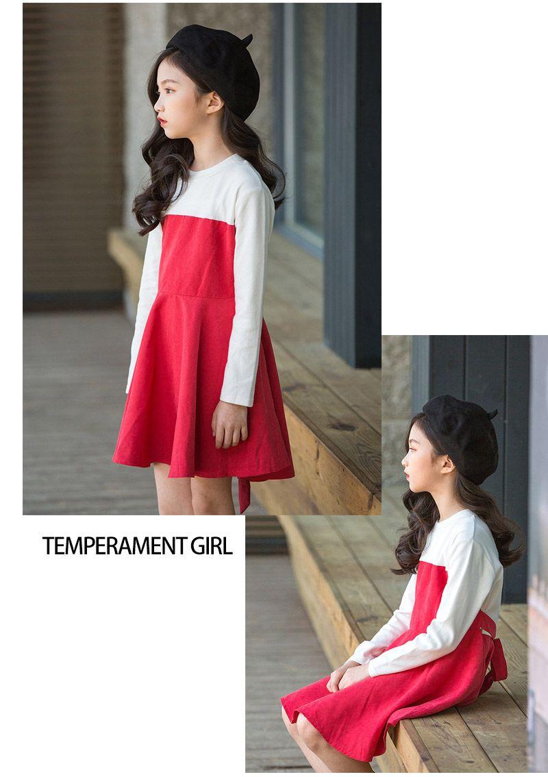 158000def890 2019 4 To 12 Year Girls Autumn Cotton Dresses