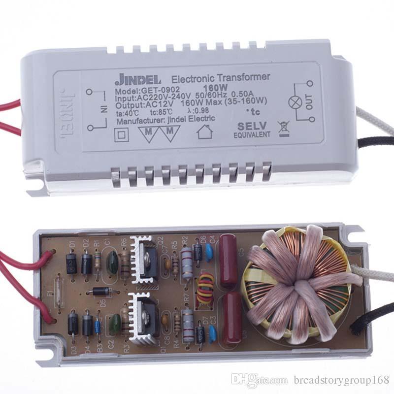 محول الإلكترونية 12 فولت مصابيح الهالوجين AC220V 160W محول الإلكترونية ل G4 الهالوجين مصباح الخرز مصباح كوب