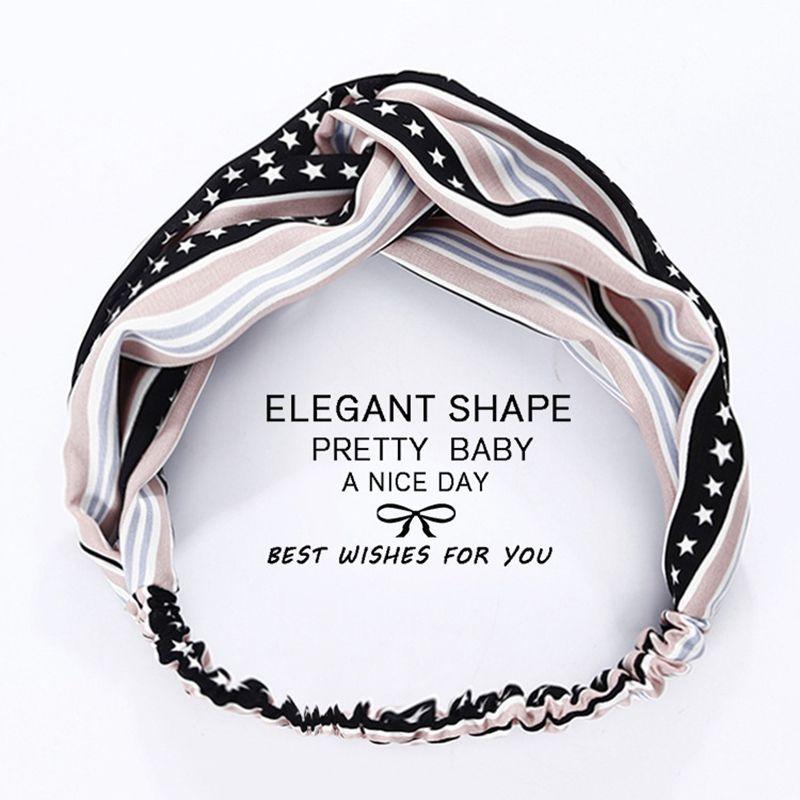 2019 Cute Women Headbands Star And Stripes Headband Silk Cross Hair Band  Outdoor Sports Hair Accessories Comfortable Headbands From Blacksunday 31332420a31