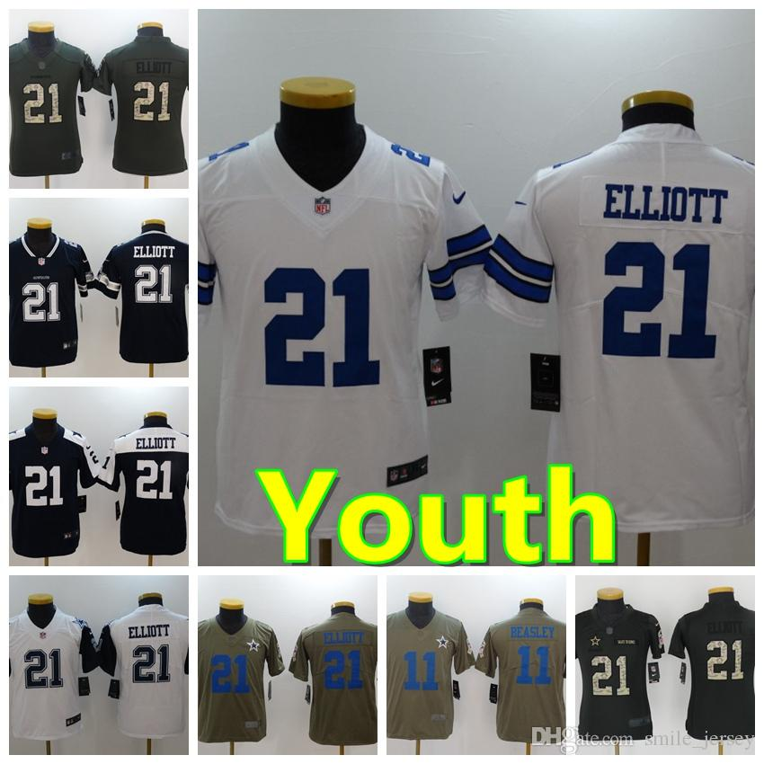 20892bbb156 2019 Youth 21 Ezekiel Elliott Dallas Jersey Cowboys Football Jersey 100%  Stitched Embroidery Cole Beasley Kids Football Stitching Boys Jersey From  Xmas_gift ...