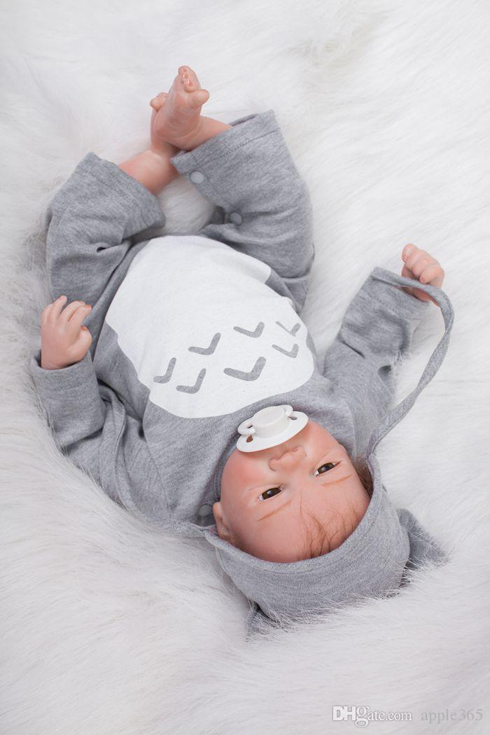 50cm/20 inch Handmade Reborn Baby Doll Girl Newborn Life like Soft Vinyl silicone Soft Gentle Touch Cloth Body Magnetic pacifier/YDK-2R1